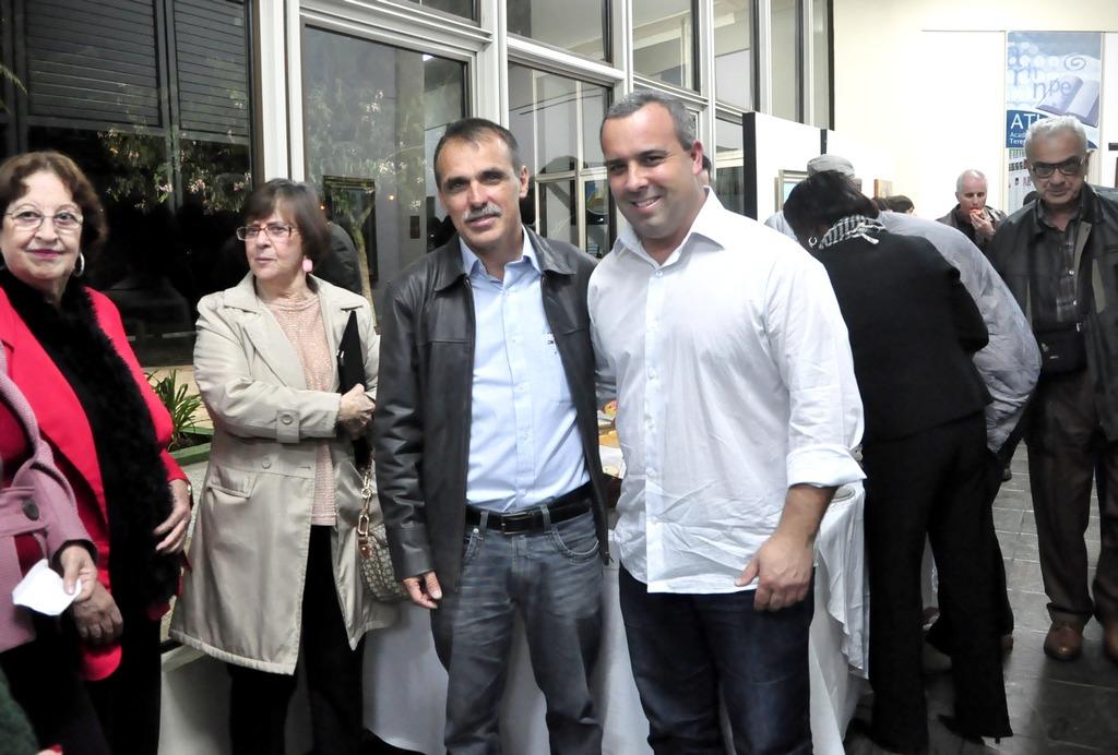 Secretário de Cultura, Wanderley Peres, e o presidente da Câmara, Maurício Lopes