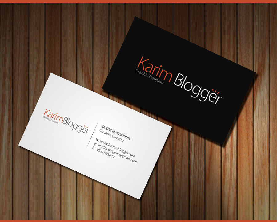 Karim Blogger: Business Card First Designe