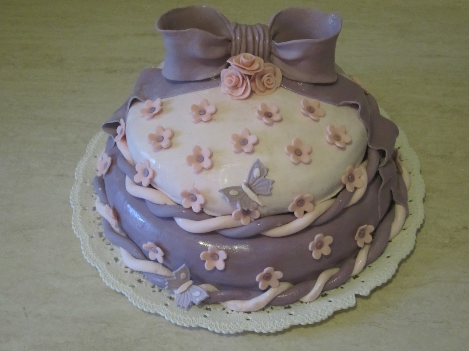 Dolci pasticci di sara torta due piani in pasta di for Due piani
