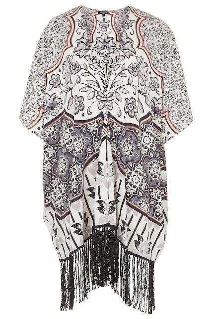 patterned kimono, printed kimono, tassel kimono, long kimono,