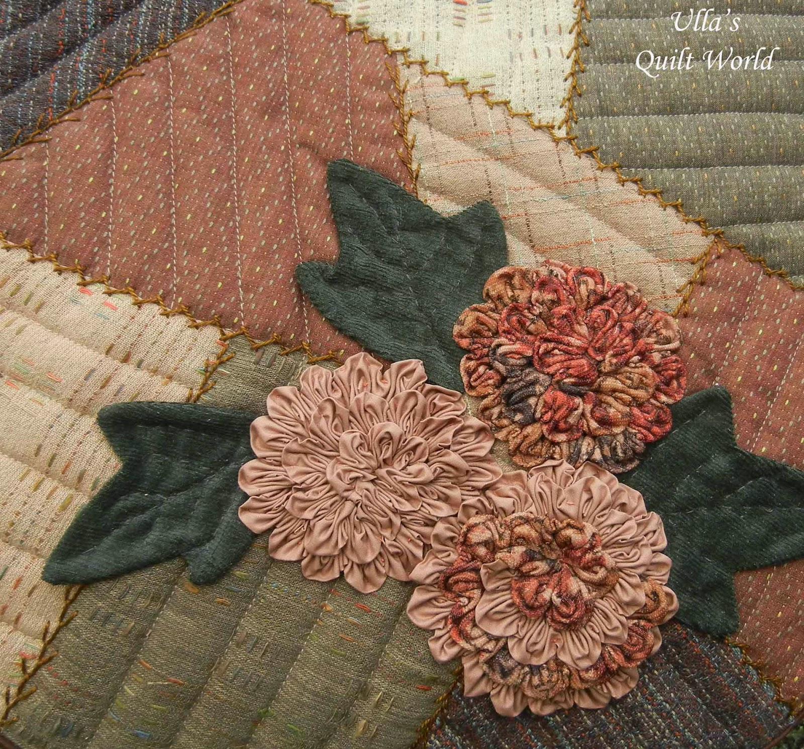 Ulla's Quilt World: Patchwork bag, flowers + pattern - quilt : flower patchwork quilt - Adamdwight.com