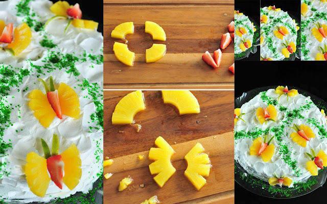 DIY Pineapple Butterfly