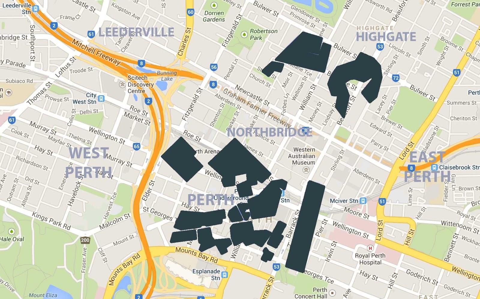 bike paths perth city. Black Bedroom Furniture Sets. Home Design Ideas