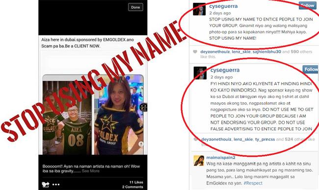 Aiza Seguerra Condemn False Advertising of EMGOLDEX Spread out in Social Media