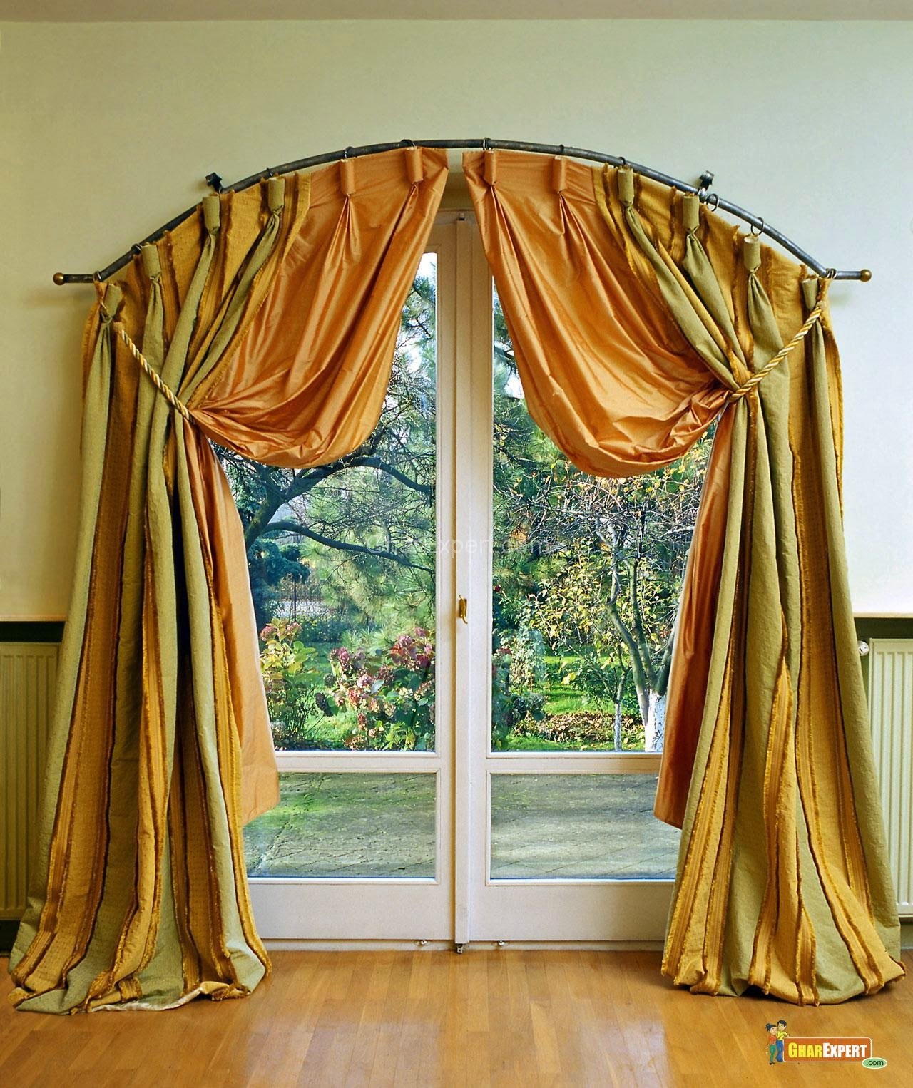 The breathtaking drapes for sliding glass door ideas for Window design arch