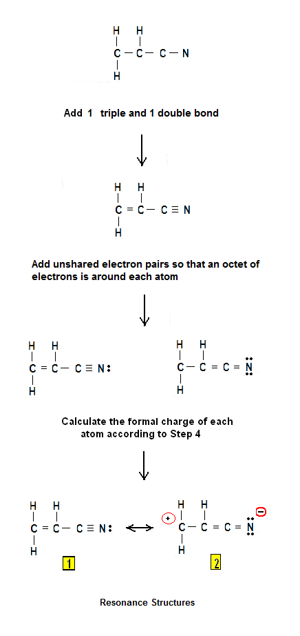 What is the Lewis structure of acrylonitrile