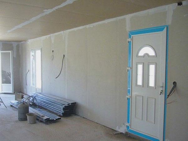 mise en place des placo pl tre phase 2. Black Bedroom Furniture Sets. Home Design Ideas