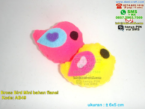 Bross Bird Mini Bahan Flanel