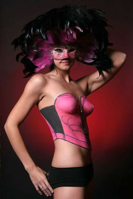 body paint girl sexy gallery masked
