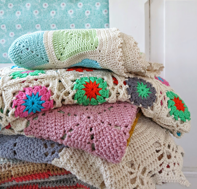 ByHaafner, crochet blankets, pastel, colours