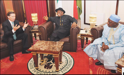 Photos; President Jonathan Welcomes New Ambassadors From France, Senegal And Ethiopia To Nigeria