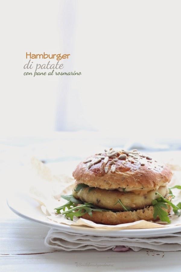 hamburger di patate con pane al rosmarino