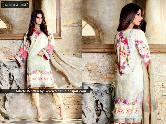 Zahra Ahmed Spring-Summer Lawn 2015