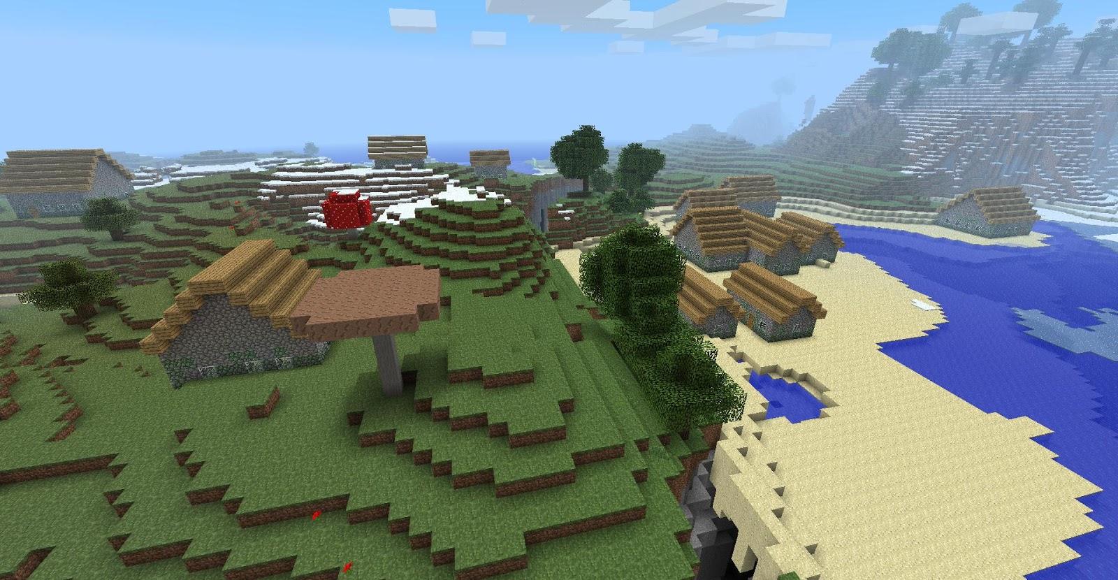 8-Bit City: Rare Minecraft Alpha Screenshotsalpha village