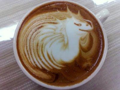 dragon Latté art, Five Senses Coffee
