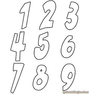 Los numeros dibjos para colorear