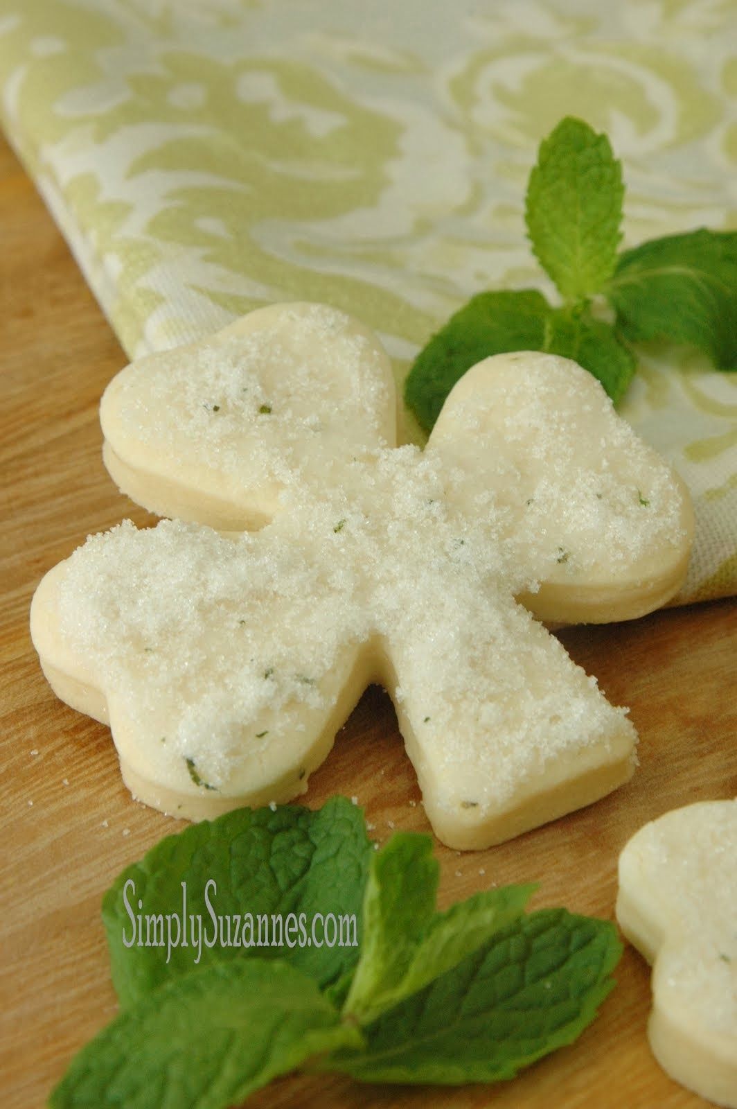minted sugar cookies