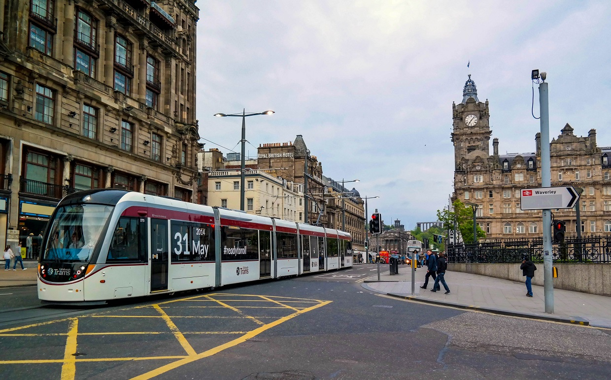 Image result for trams edinburgh
