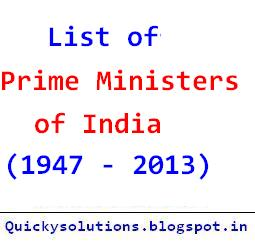 list, indian, prime, ministers, primeminister, of, india, who, from, 1947, 2013