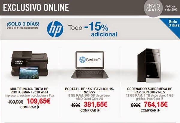 ofertas HP ECI del 9-9-2014
