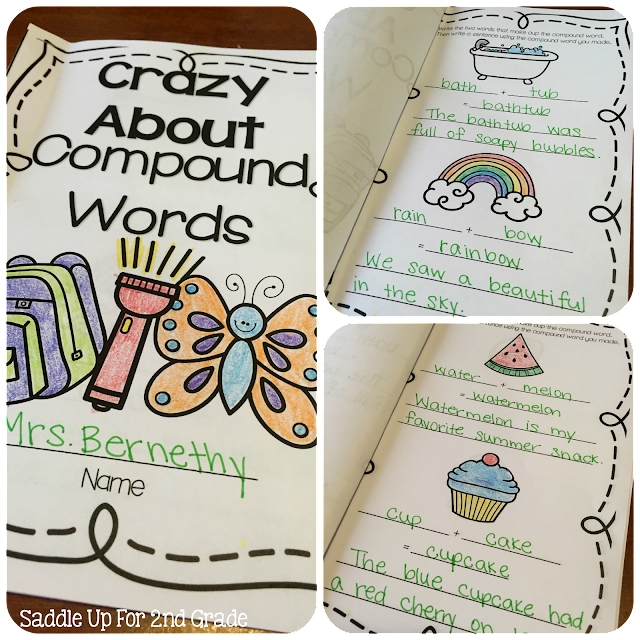 Compound Word Booklet by Saddle Up For 2nd Grade