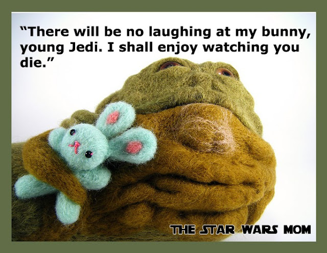 Star Wars Jabba the Hutt with his Bunny humor