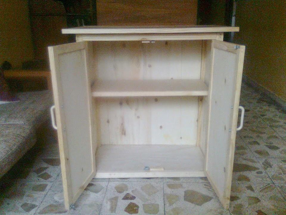 Arte en madera y decoraci n mueble de pino para cocina o for Muebles de cocina para microondas
