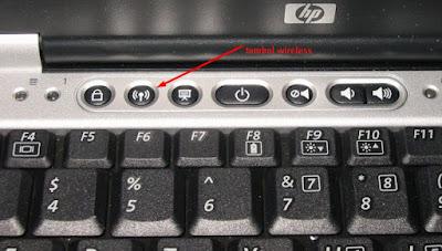 cara mengaktifkan wifi di laptop dengan tombol