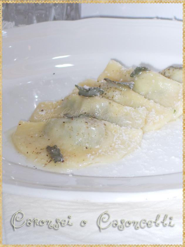 Ravioli ripieni di formaggio ed erbette