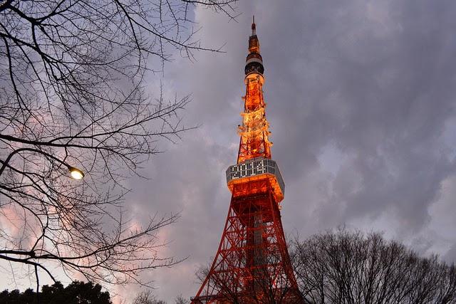 Tokyo Tower en año nuevo