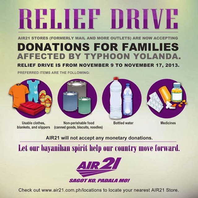 Help Victims of Typhoon Yolanda via Air21