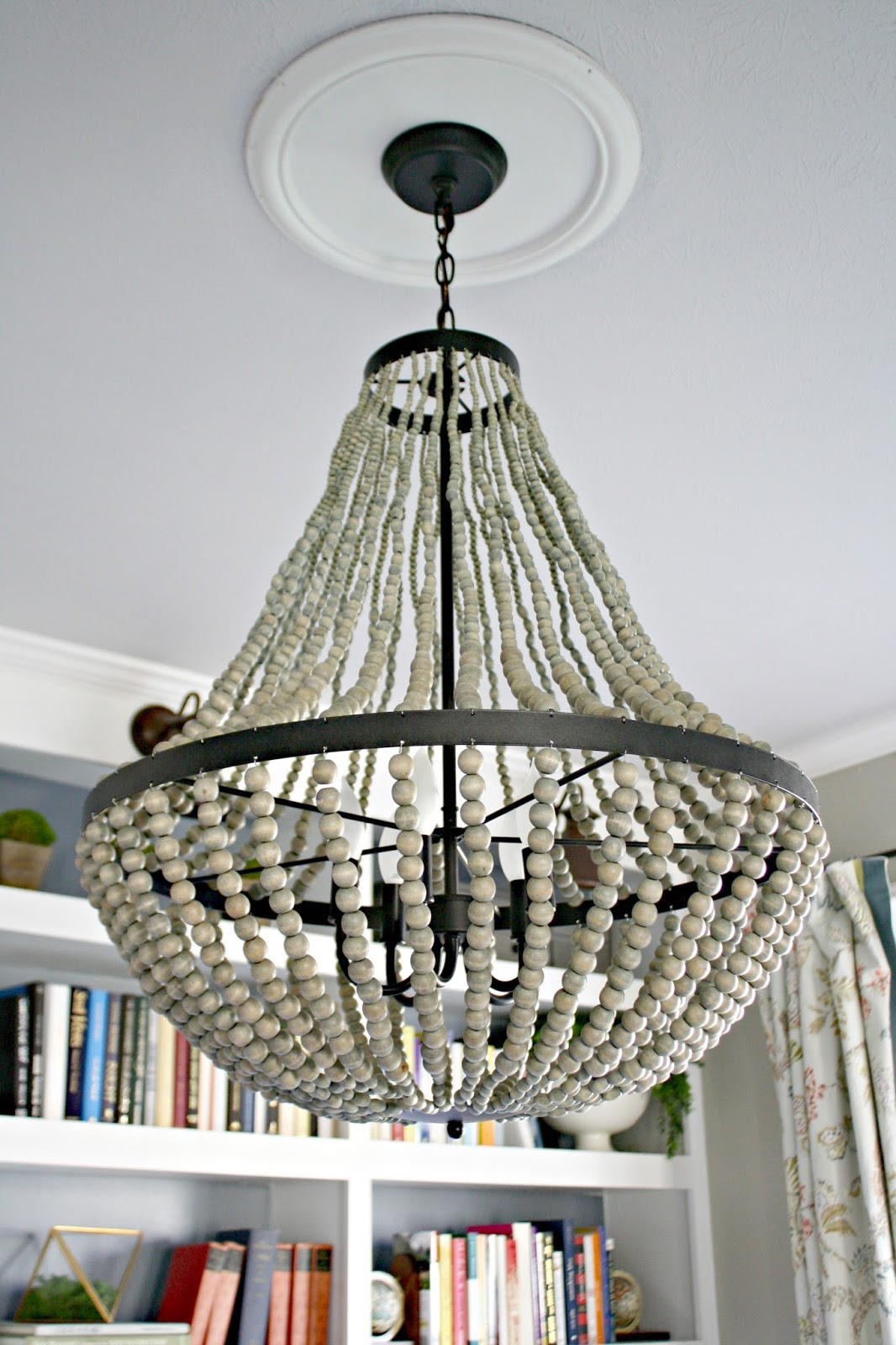 A new beaded chandelier from thrifty decor chick world market large beaded chandelier arubaitofo Images