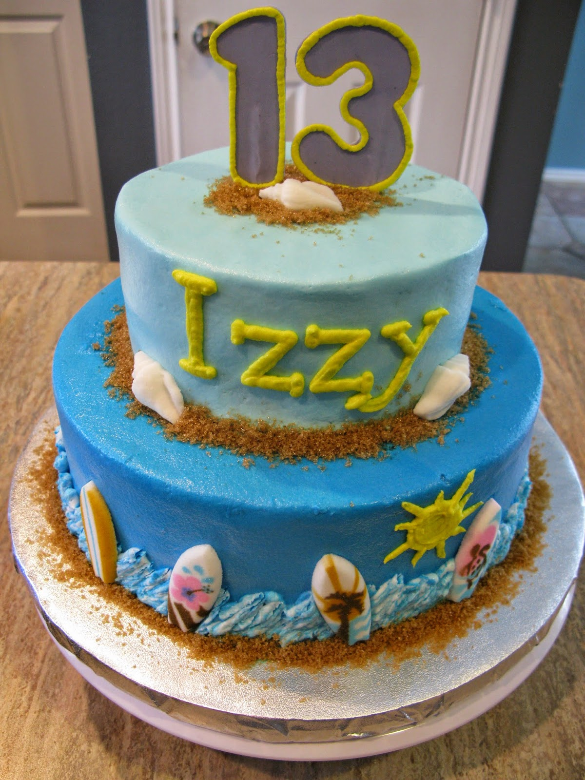 A Counselors Confections Beach Themed Birthday Cake Vegan