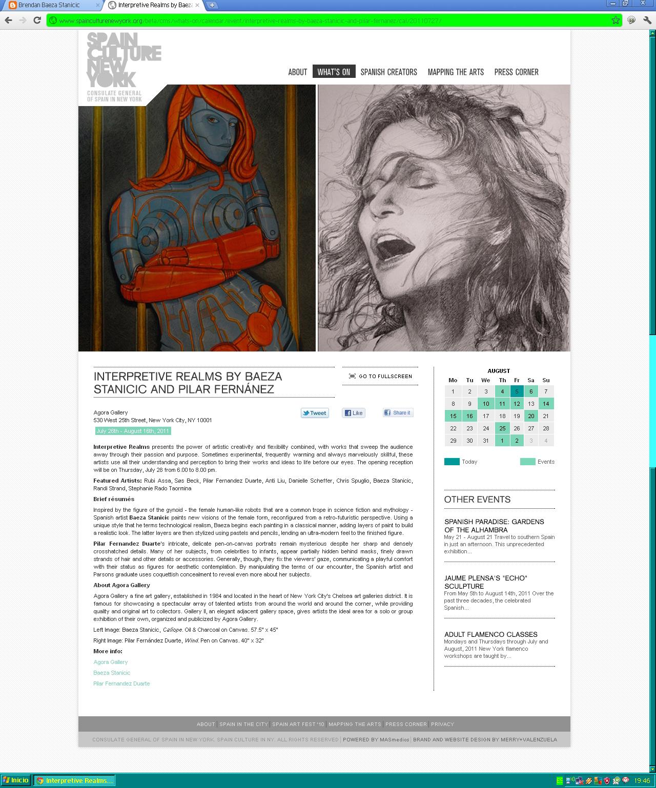 Clase de Pintura en Las Palmas de Gran Canaria: agosto 2011