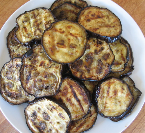 Place the vegetables on the grill and cook, turning occasionally ...