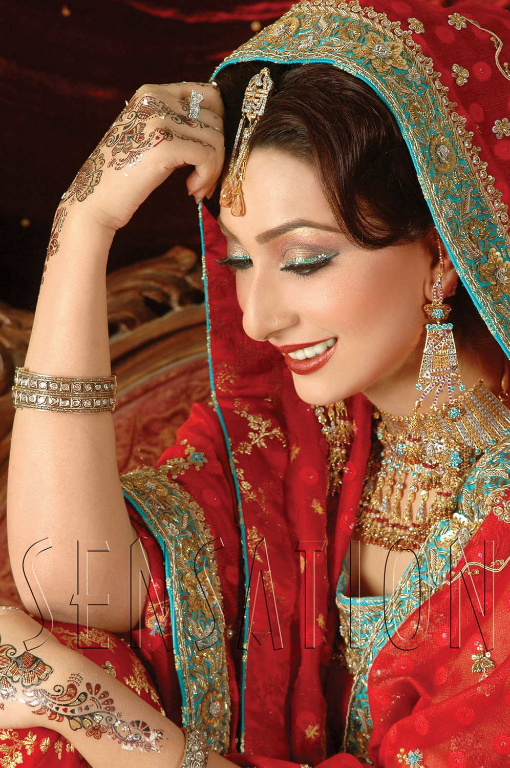 indian wedding model