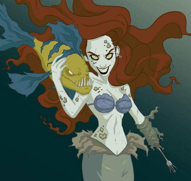 Princesas de Disney reimaginadas como espeluznantes personajes por Jeffrey Thomas