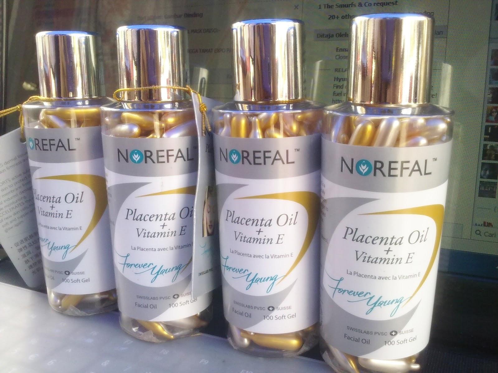 1 Norefal Placenta Oil + Vitamin E (Soft Gel)Sumijelly Weblog
