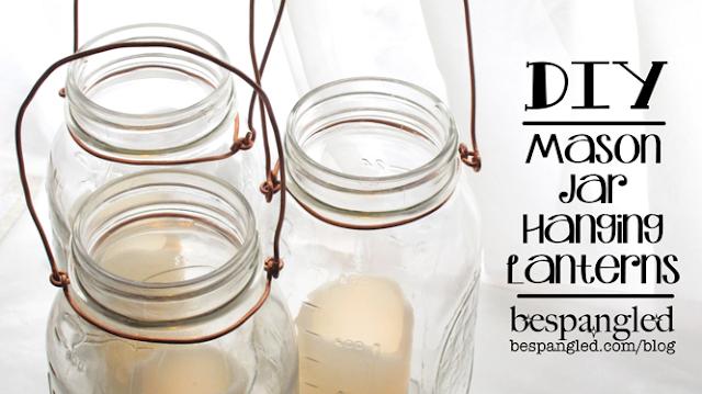DIY Mason Jar Hanging Lanterns - DIY wedding craft tutorial (video)