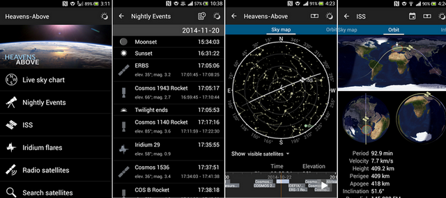 iridium flares in real time