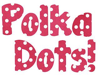 bubble letters s polka dot