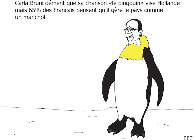 effondrement de la popularité de hollande fej dessin