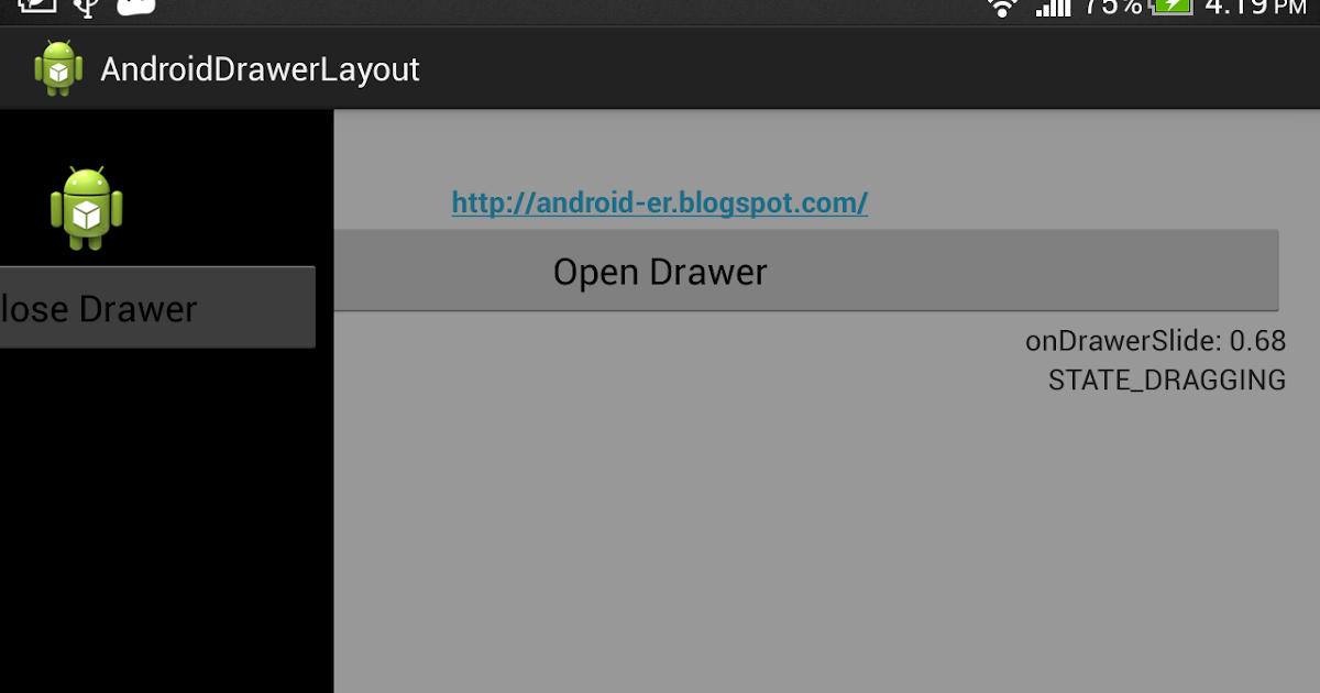 Android er android drawerlayout and drawerlistener - Er finestra android ...