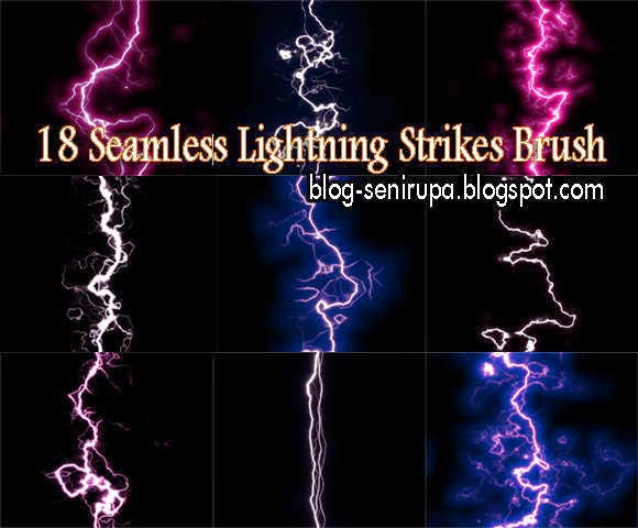 18 Seamless Lightning Brush