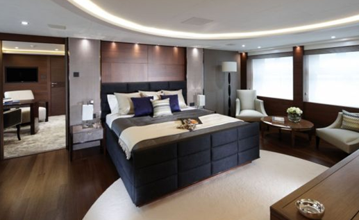 imperial princess yacht luxury cruising vessel master suite