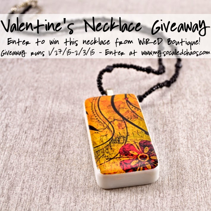 Giveaway: Valentine's Domino Necklace from WiReD Boutique