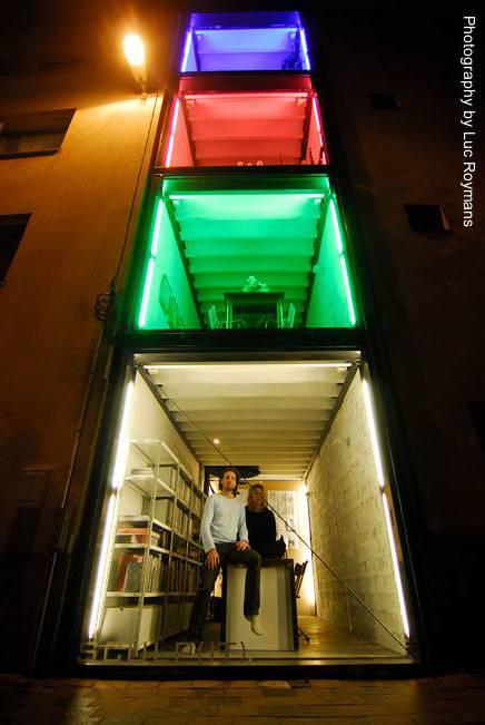 Arquitectura de casas casa de elementos contenedores for Maison container urbanisme belgique