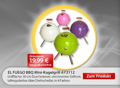 El Fuego BBQ Mini-Grill in verschiedenen Farben für 19,99 Euro inklusive Verseandkosten