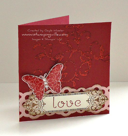 Stampin' Up! Creative Elements Stamp Set Love Card