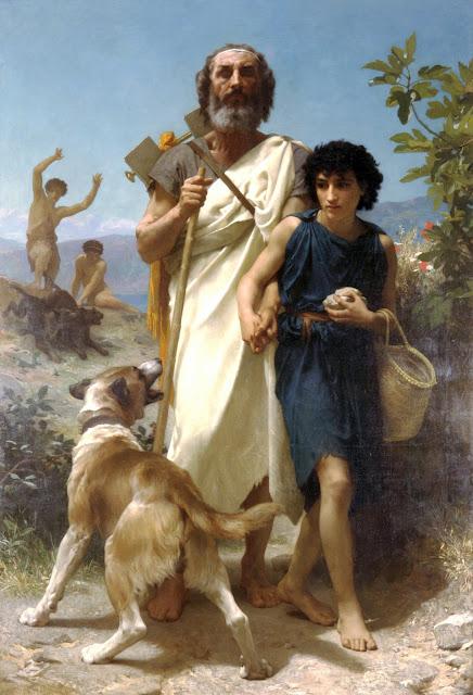 Homer,wild dog,Bouguereau
